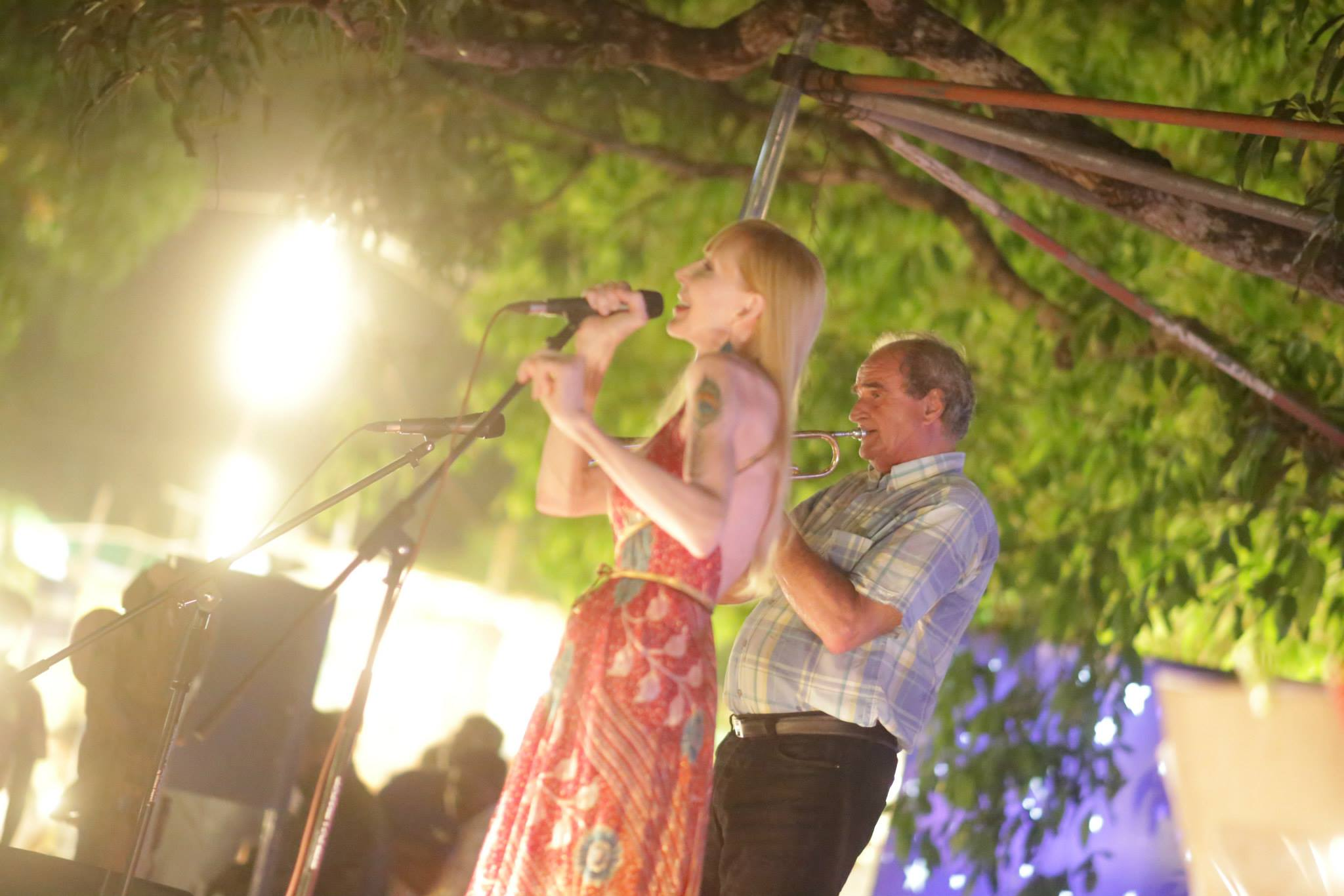 Laura performing in Goa, India